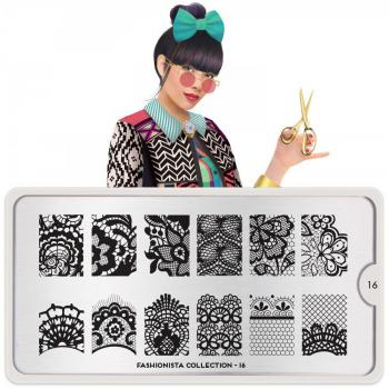 Mo You Fashionista 16 Stamping Platte