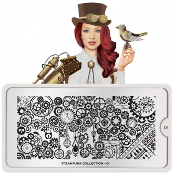 MoYou Steampunk 01 Stamping Platte