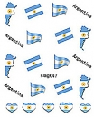 Sheeets of Stickers Argentinia